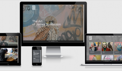 Website for James Tomlinson Artist / Tommy Rockett - Graphic for Design Screen Print