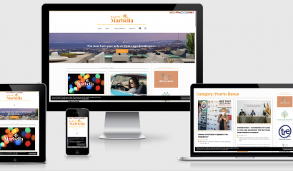 Website for Planet Marbella - Tommy Rockett: Graphic Design for Screen & Print